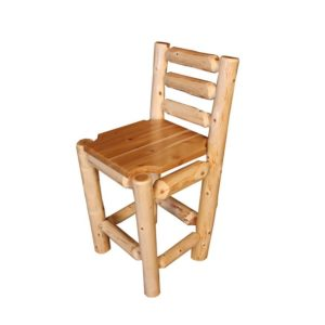 Ladder Back Bar Chair with Clear Finish