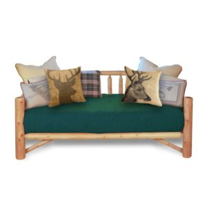 Log Day Bed with Clear Finish