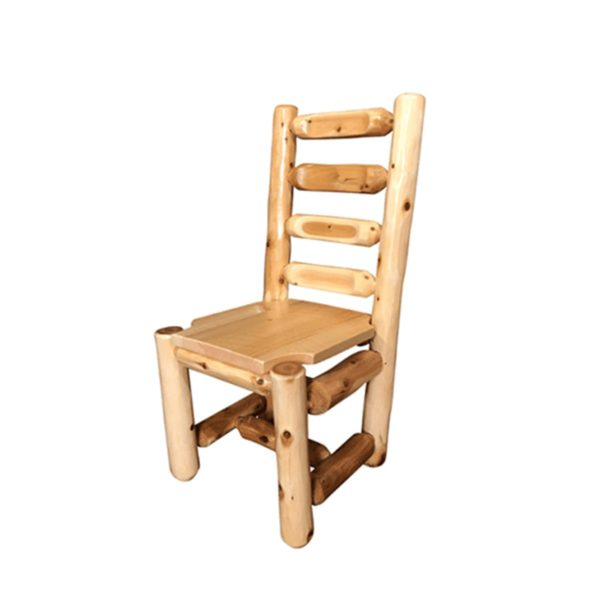 Ladder Back Dining Chair with Clear Finish