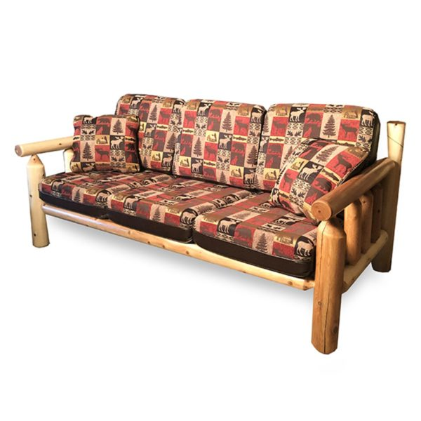 Sofa with Clear Finish