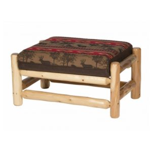 Sofa Chair & Half Ottoman with Clear Finish
