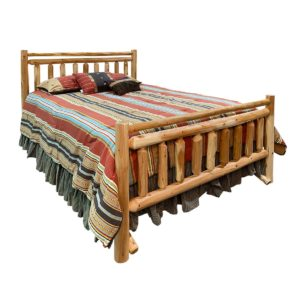 Moose Creek Lodge Bed with Clear Finish