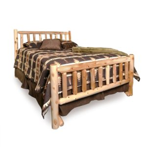 Moose Creek Log Bed with Clear Finish