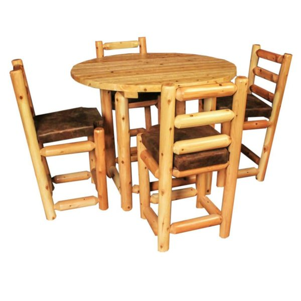 Round Pub Table with Clear Finish