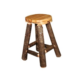 Hickory Bar Stool with Clear Finish