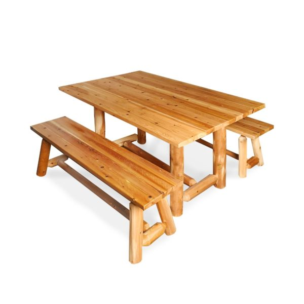 Cedar Creek Dining Table with Clear Finish