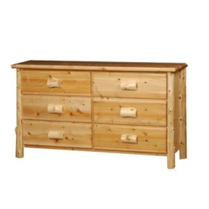 Large 6 Drawer Dresser with Clear Finish