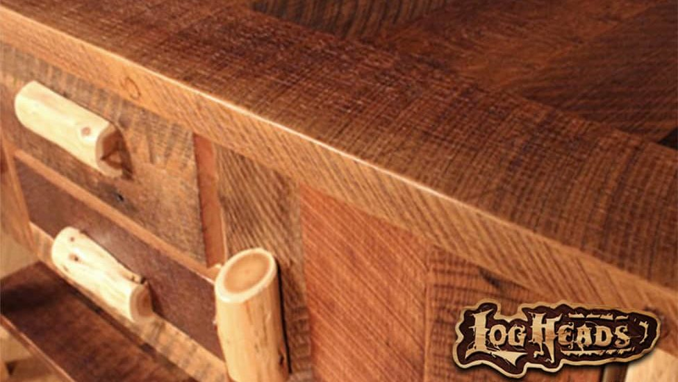 custom log furniture designed by Logheads Home Center